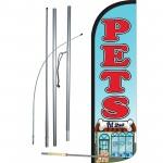 Pets Pet Shop Extra Wide Windless Swooper Flag Bundle