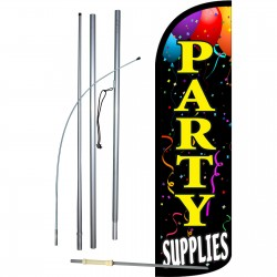 Party Supplies Extra Wide Windless Swooper Flag Bundle
