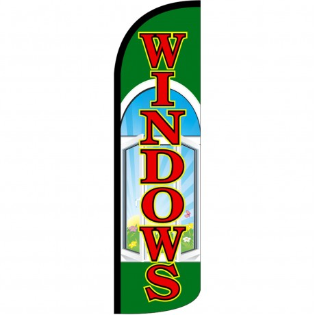 Windows Extra Wide Windless Swooper Flag