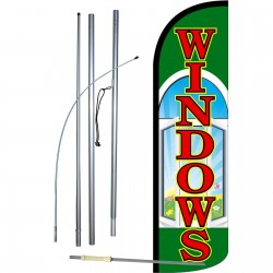 Windows Extra Wide Windless Swooper Flag Bundle