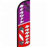 Beauty Barber Extra Wide Windless Swooper Flag