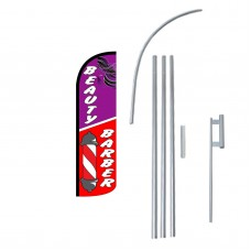 Beauty/Barber Extra Wide Windless Swooper Flag Bundle