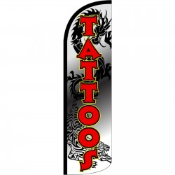 Tattoos Dragon Extra Wide Windless Swooper Flag