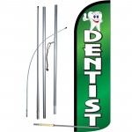 Dentist Green Extra Wide Windless Swooper Flag Bundle