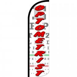 Optometrist Extra Wide Windless Swooper Flag