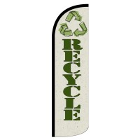 Recycle Extra Wide Windless Swooper Flag