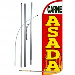 Carne Asada Extra Wide Windless Swooper Flag Bundle