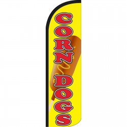 Corn Dogs Yellow Extra Wide Windless Swooper Flag