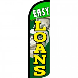 Easy Loans Extra Wide Windless Swooper Flag