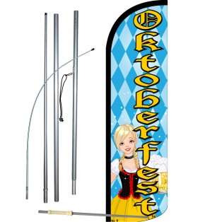 Oktoberfest Extra Wide Windless Swooper Flag Bundle