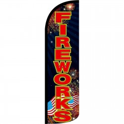 Fireworks Black Extra Wide Windless Swooper Flag
