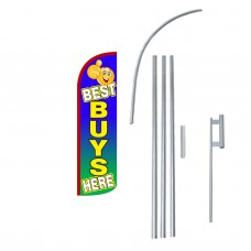 Best Buys Extra Wide Windless Swooper Flag Bundle