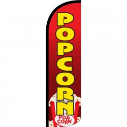 Popcorn Red Extra Wide Windless Swooper Flag