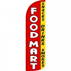 Food Mart Extra Wide Windless Swooper Flag