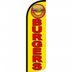 Burgers Yellow Extra Wide Windless Swooper Flag