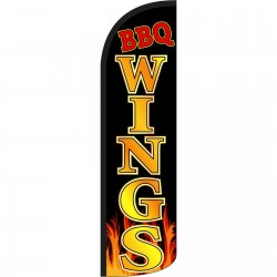 BBQ Wings Extra Wide Windless Swooper Flag