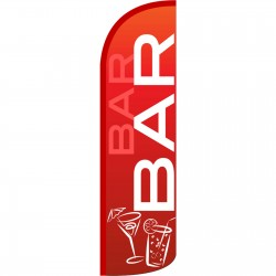 Bar Red Extra Wide Windless Swooper Flag