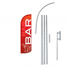Bar Extra Wide Windless Swooper Flag Bundle