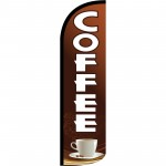 Coffee Brown Extra Wide Windless Swooper Flag