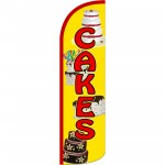 Cakes Extra Wide Windless Swooper Flag