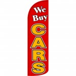 We Buy Cars Extra Wide Windless Swooper Flag