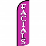 Facials Extra Wide Windless Swooper Flag