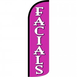 Facials Pink Extra Wide Windless Swooper Flag