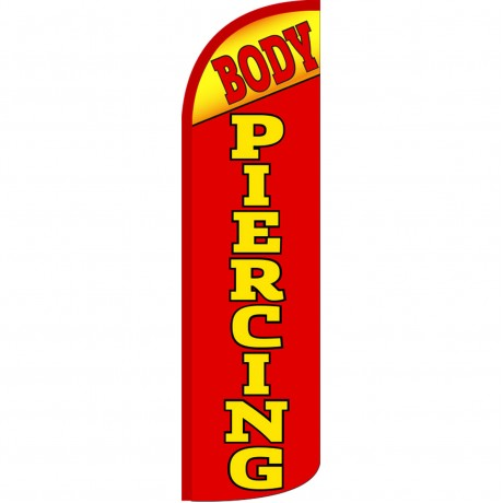 Body Piercing Extra Wide Windless Swooper Flag
