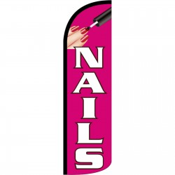 Nails Extra Wide Windless Swooper Flag