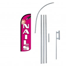 Nails Extra Wide Windless Swooper Flag Bundle