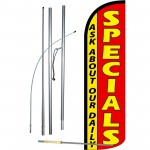 Specials Extra Wide Windless Swooper Flag Bundle