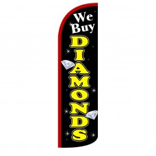 We Buy Diamonds Extra Wide Windless Swooper Flag