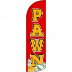 Pawn Extra Wide Windless Swooper Flag