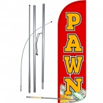 Pawn Extra Wide Windless Swooper Flag Bundle