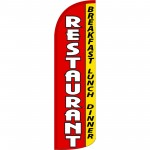 Restaurant Red Extra Wide Windless Swooper Flag