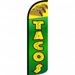 Tacos Green Extra Wide Windless Swooper Flag