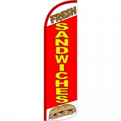 Fresh Sandwiches Extra Wide Windless Swooper Flag