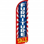 Furniture Sale Patriotic Extra Wide Windless Swooper Flag