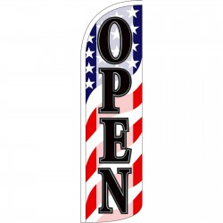 Open Old Glory Extra Wide Windless Swooper Flag