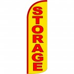 Storage Yellow Extra Wide Windless Swooper Flag