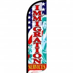 Immigration Services Extra Wide Windless Swooper Flag