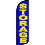Storage Blue Extra Wide Windless Swooper Flag