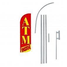 ATM Inside Extra Wide Windless Swooper Flag Bundle