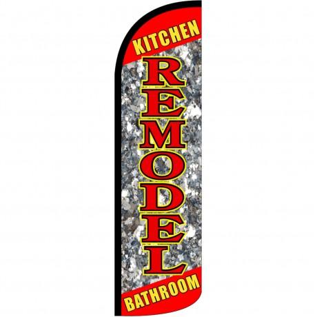 Remodel Kitchen Bathroom Extra Wide Windless Swooper Flag