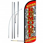 Remodel Kitchen Bathroom Extra Wide Windless Swooper Flag Bundle