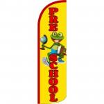 Pre-School Frog Extra Wide Windless Swooper Flag