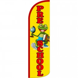 Pre-School Frog Extra Wide Windless Swooper Flag
