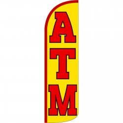 ATM Yellow Extra Wide Windless Swooper Flag