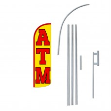ATM Extra Wide Windless Swooper Flag Bundle