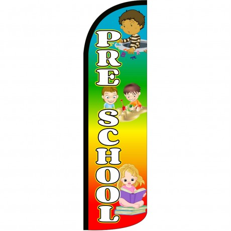 Pre-School Rainbow Extra Wide Windless Swooper Flag